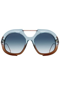 Fendi large tonal gradient sunglasses