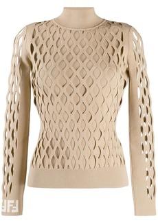 Fendi lattice design jumper