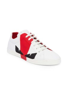 Fendi Leather Colorblock Sneakers