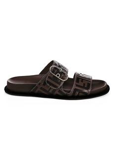 Fendi Leather Flat Slides