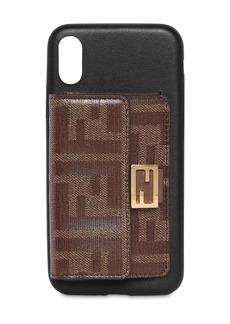 Fendi Leather I Phone X/xs Cover