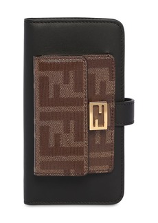 Fendi Leather Iphone X/xs Cover W/chain