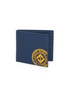 Fendi Leather Logo Stamp Wallet