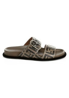 Fendi Leather Flat Sandals
