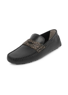 Fendi Leather Penny Loafers