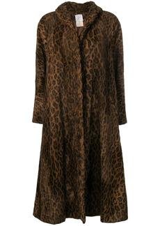Fendi leopard print oversized coat