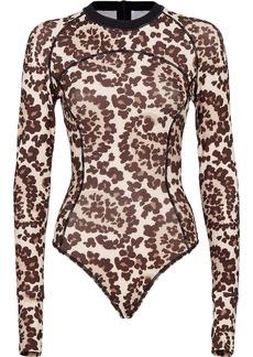 Fendi leopard print ski body