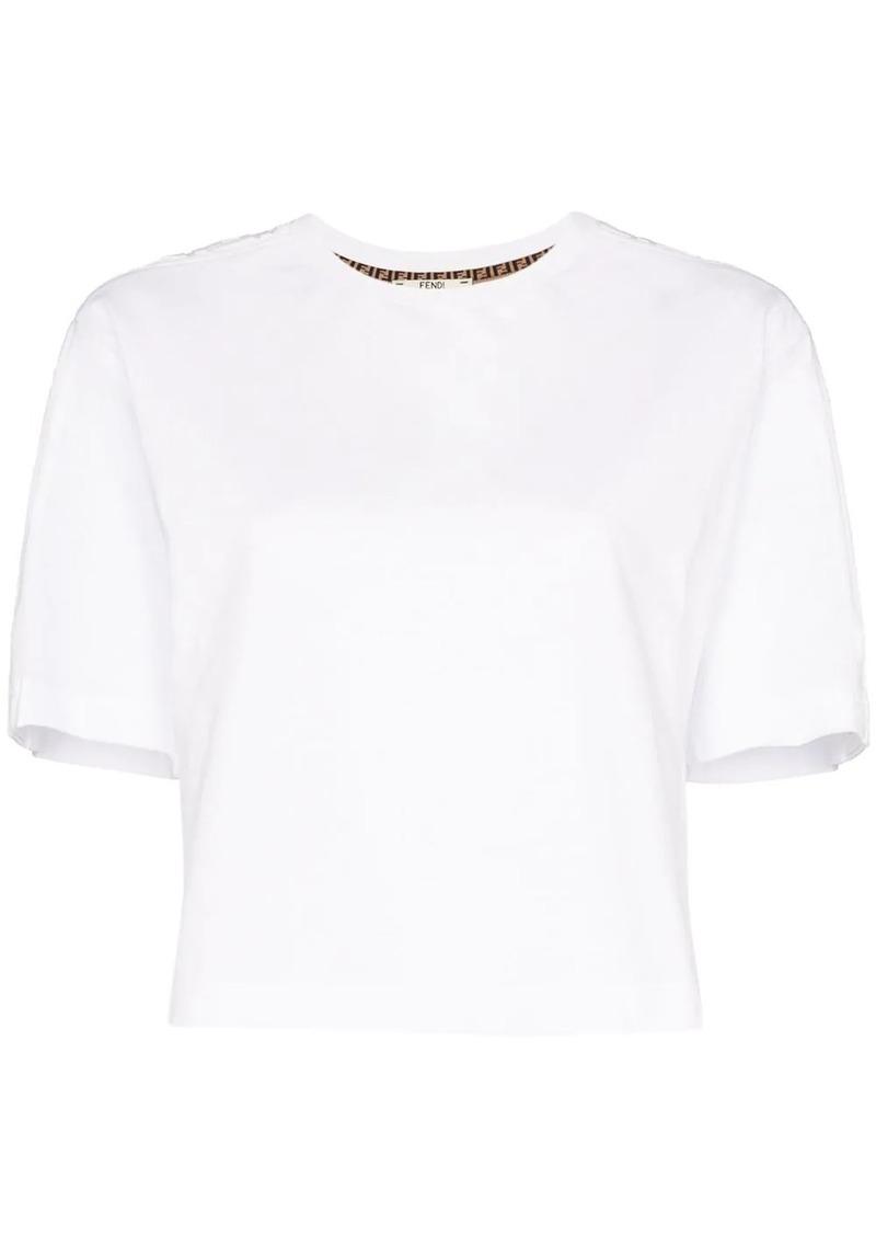 Fendi logo appliqué cropped cotton T-shirt
