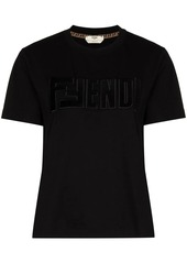 Fendi logo-applique T-shirt