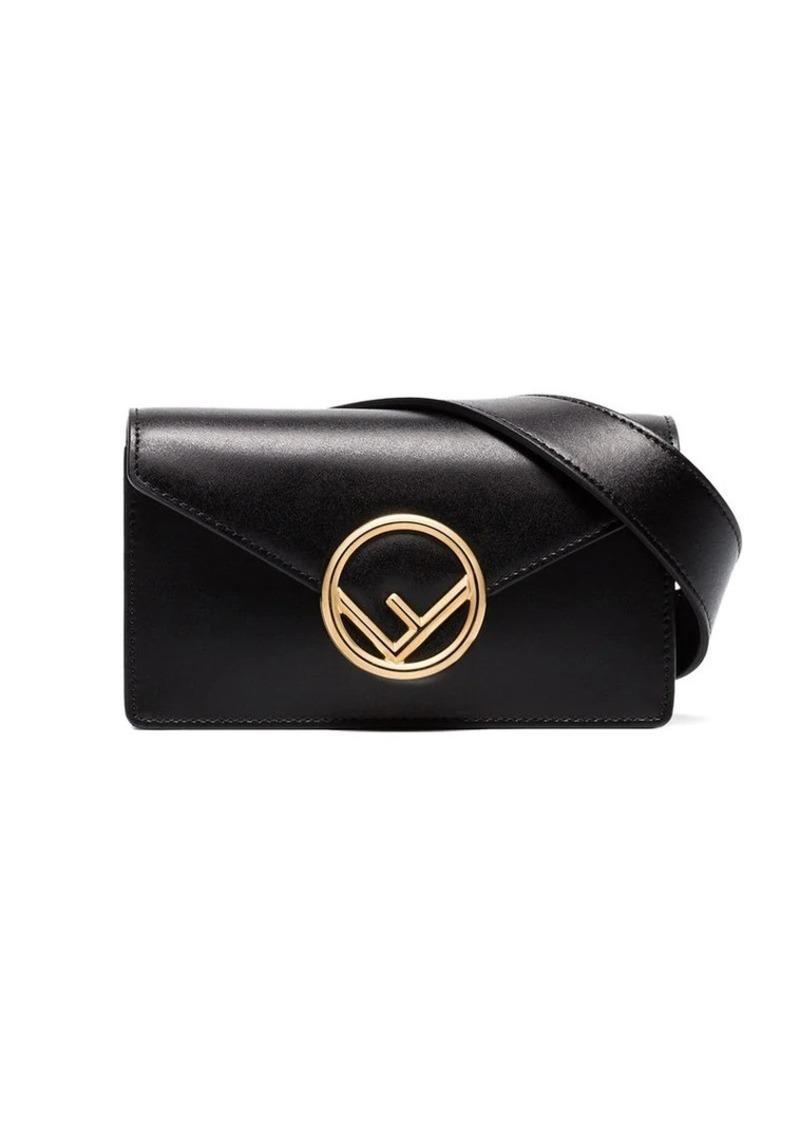 22cba94d7f black logo leather belt bag