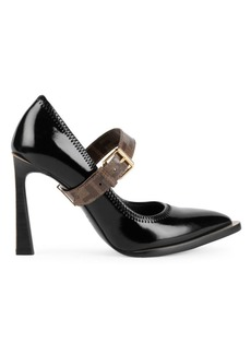 Fendi Logo Buckle Pumps