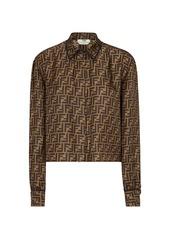Fendi Logo Camicia FF Oversized Button Down Shirt