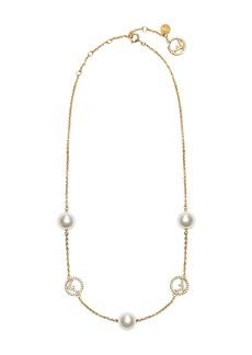 Fendi logo charm chain necklace