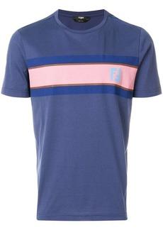 Fendi logo colour-block T-shirt