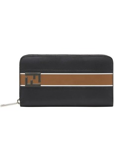 Fendi logo continental wallet