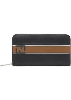 Fendi logo continental wallet