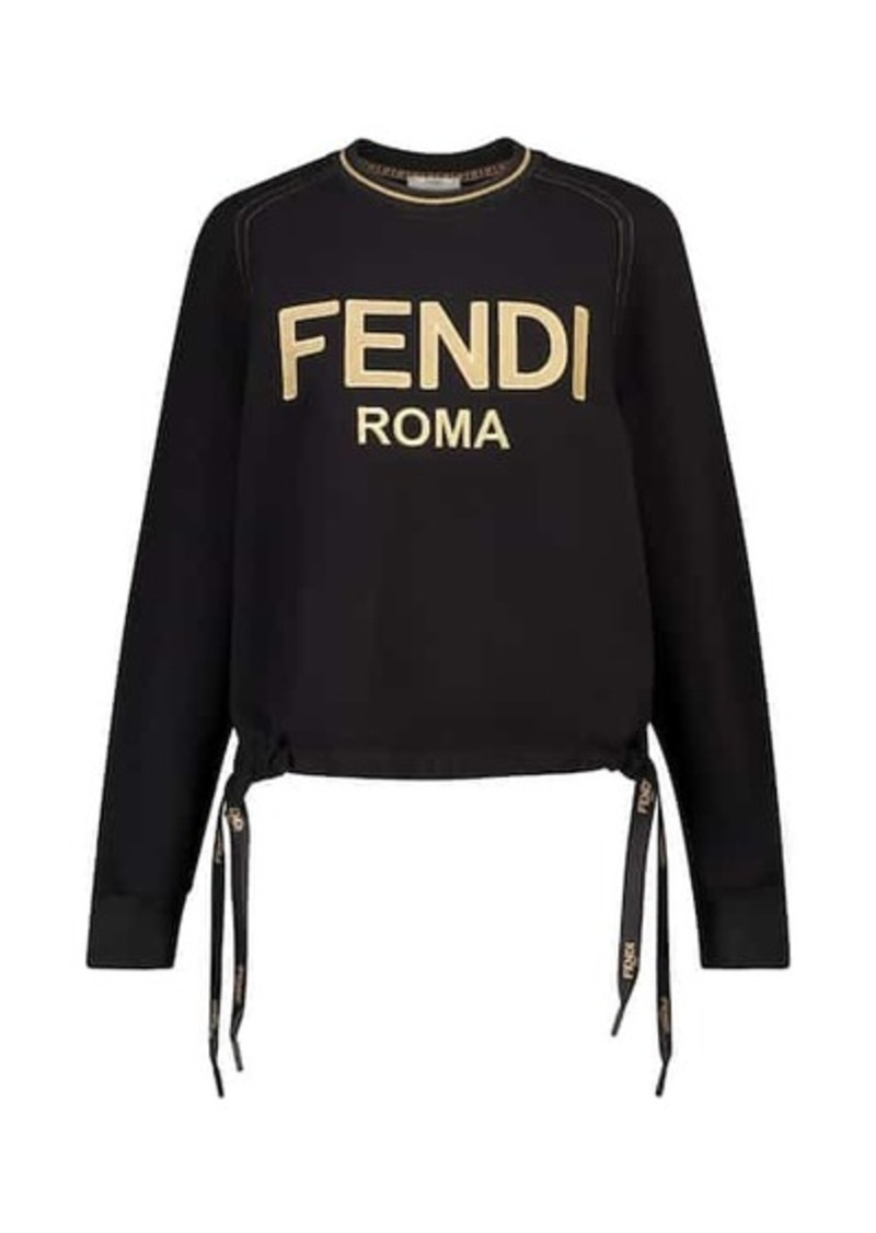 Fendi Logo cotton sweatshirt