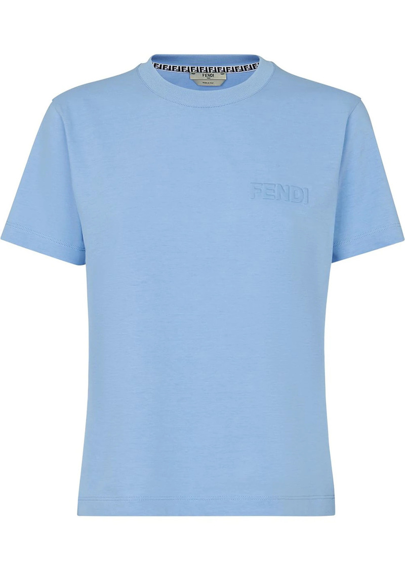 Fendi logo-debossed short-sleeve T-shirt