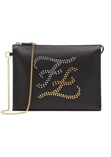Fendi logo embellished clutch