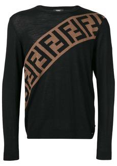 Fendi logo embellished sweatshirt