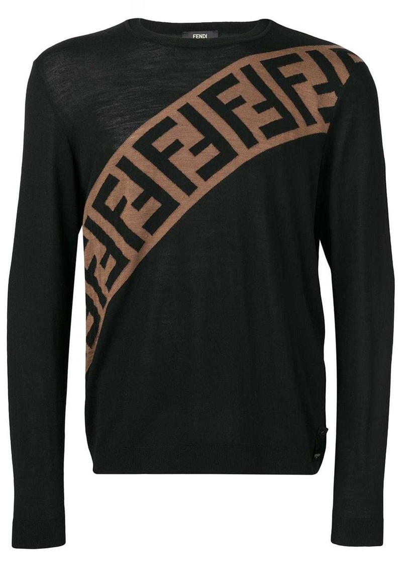 Fendi logo embellished sweatshirt