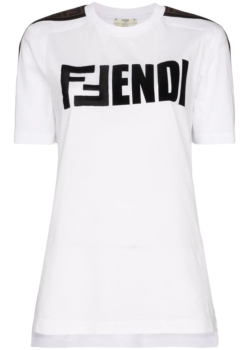 Fendi logo-embroidered cotton T-shirt