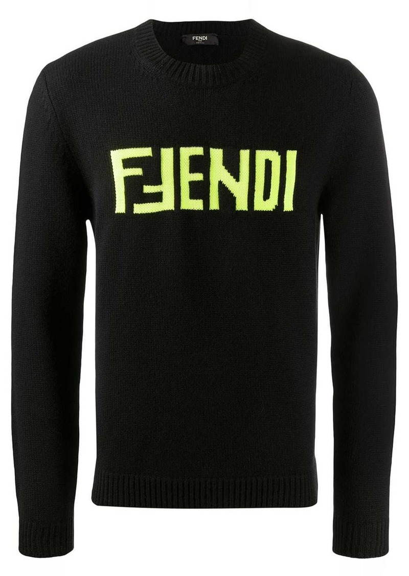Fendi logo embroidered jumper