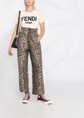 Fendi logo-embroidered T-shirt