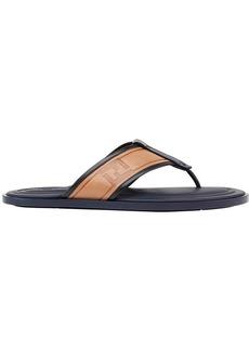 Fendi logo flip flops