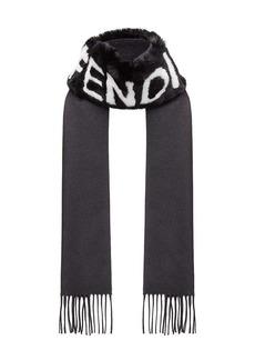 Fendi logo fringed scarf