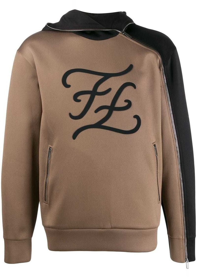 Fendi logo hoodie