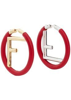 Fendi logo hoop earrings