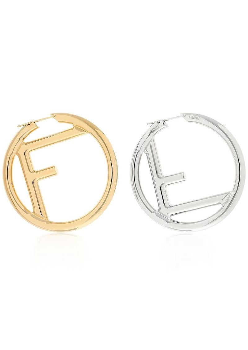 7a9c6f47e Fendi Logo Hoop Earrings | Jewelry