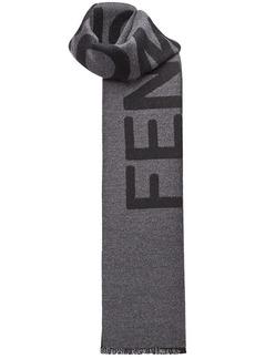 Fendi logo jacquard-weave scarf