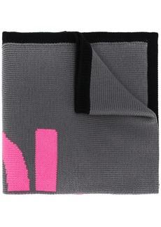 Fendi logo knit scarf