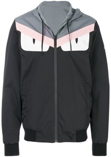 Fendi logo patch hooded jacket