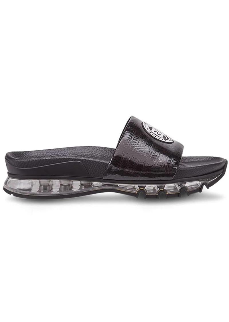 Fendi logo-patch sandals