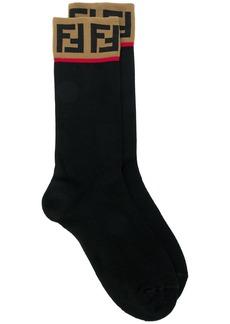Fendi logo patch socks