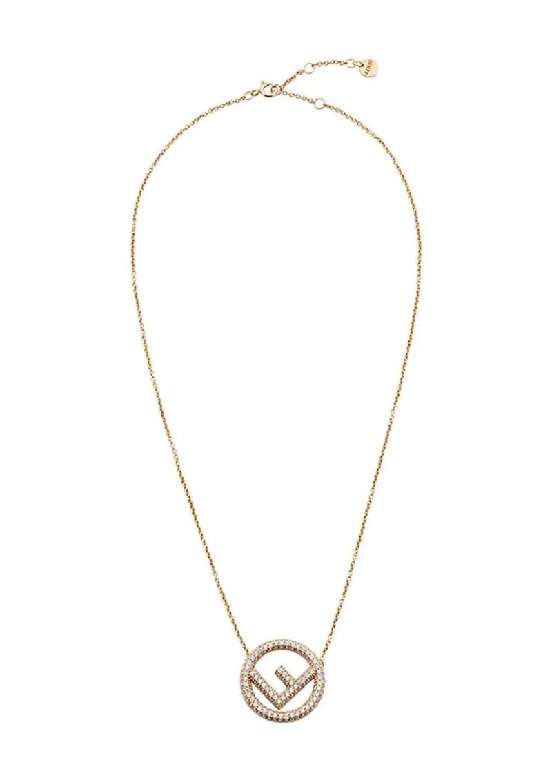 Fendi logo pendant necklace