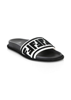 Fendi Logo Pool Slides