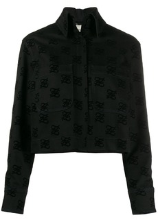 Fendi logo print back-bow denim jacket