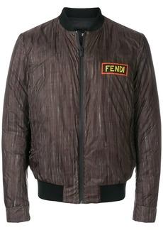 Fendi logo print bomber jacket