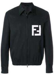 Fendi logo print shirt jacket