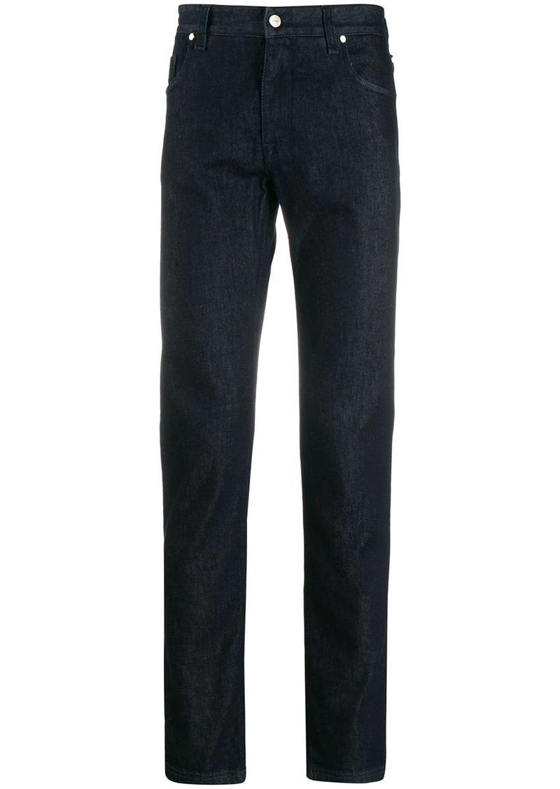 Fendi logo print skinny-fit jeans