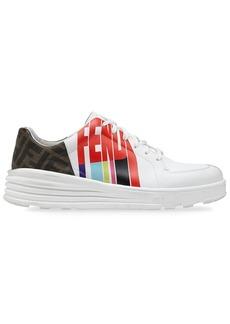 Fendi logo-print sneakers