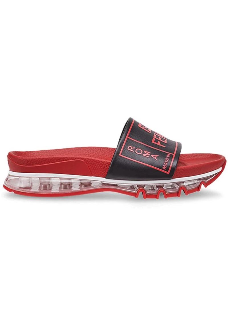 Fendi logo sandals