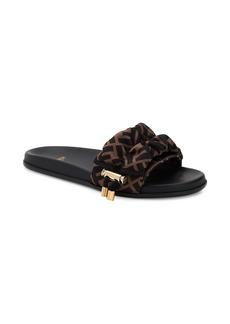 Fendi Logo Slide Sandals