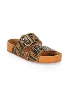 Fendi Logo Slip-On Sandals