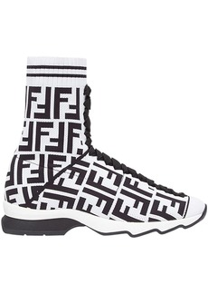 Fendi logo sock sneaker boots