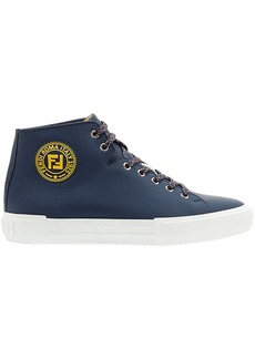 Fendi logo stamp hi-top sneakers
